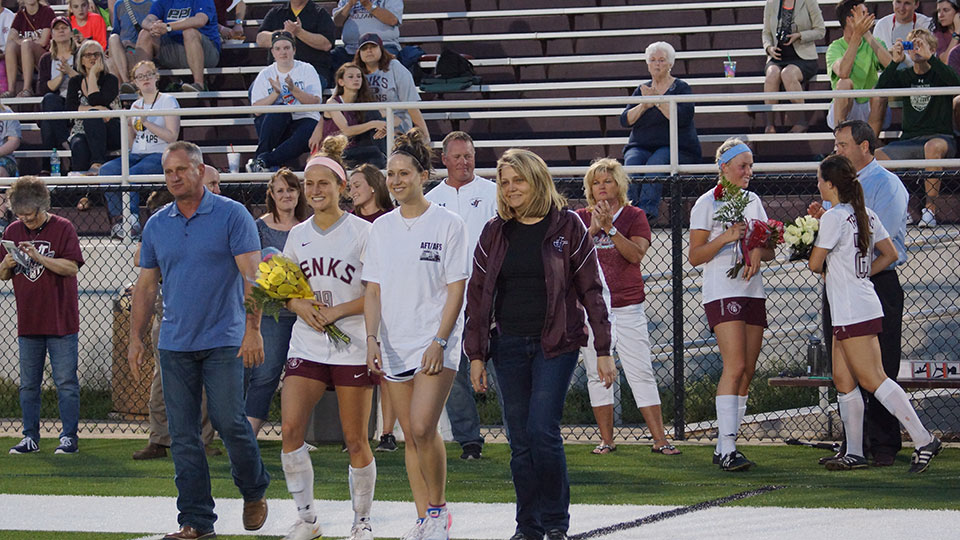 Successful Senior Night for the Lady Trojans - Jenks Lady